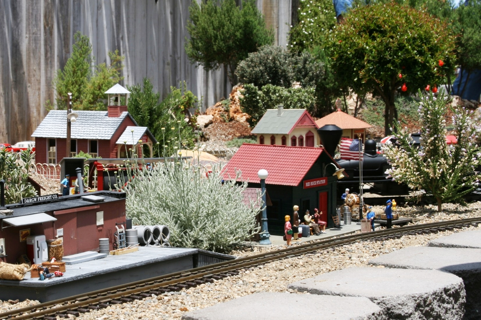 dawes Passengers wait at Red Rock Station amid the beautiful variety of trees and shrubs