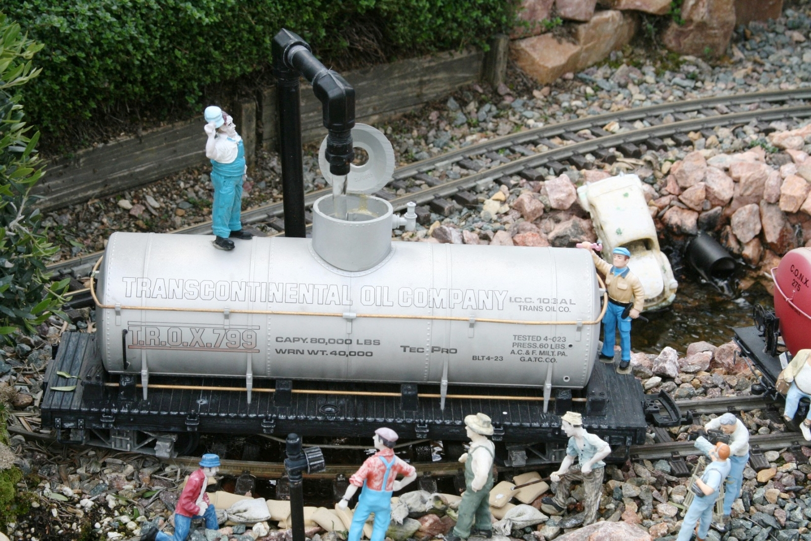 A clever never full tanker car!